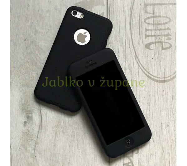 360° kryt Mate silikónový iPhone 5 5S SE - čierny 6134ed87307