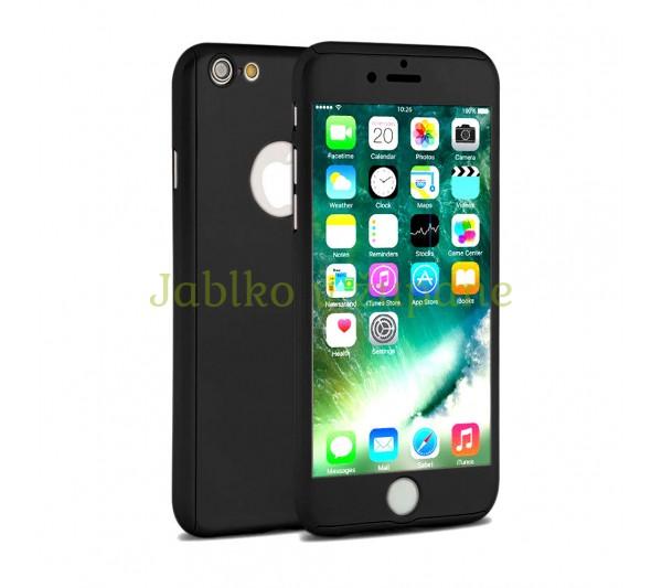 360° Full body kryt Apple iPhone 6 Plus 6S Plus - čierny b61d1dab774