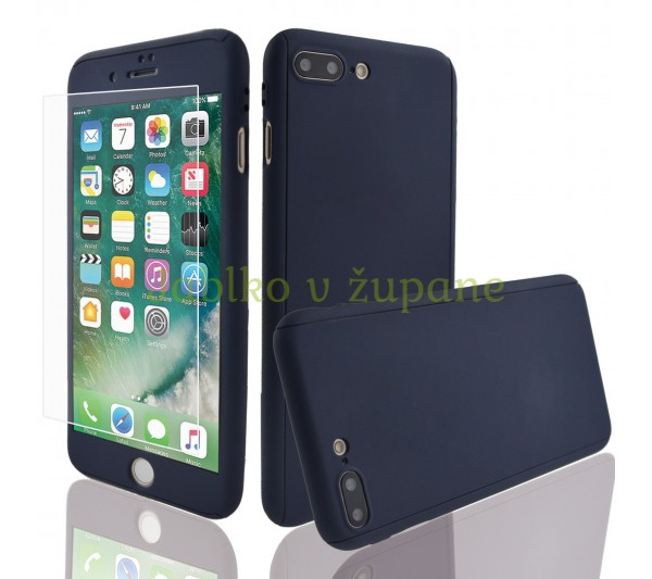 360° Full body kryt iPhone 7 Plus 8 Plus - modrý 4c058012b27