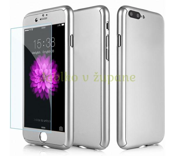 360° Full body kryt iPhone 7 Plus 8 Plus - strieborný fd4506aef7f