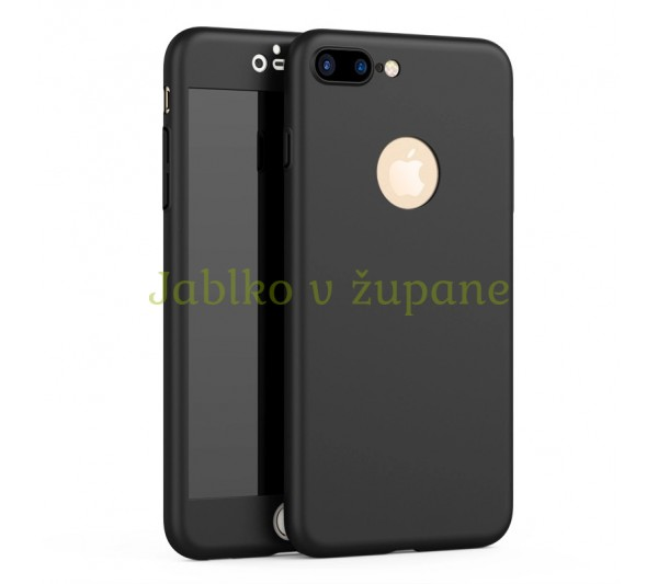 360° Full body kryt Apple iPhone 7 Plus 8 Plus - čierny 78a224976e1