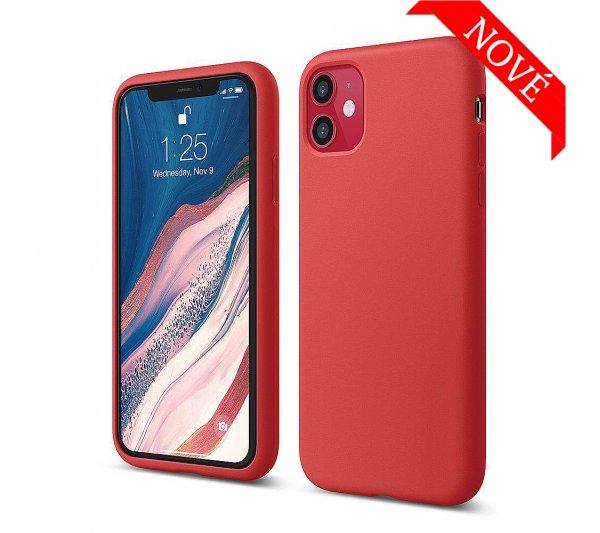 Silikónový kryt iPhone 11 - červený