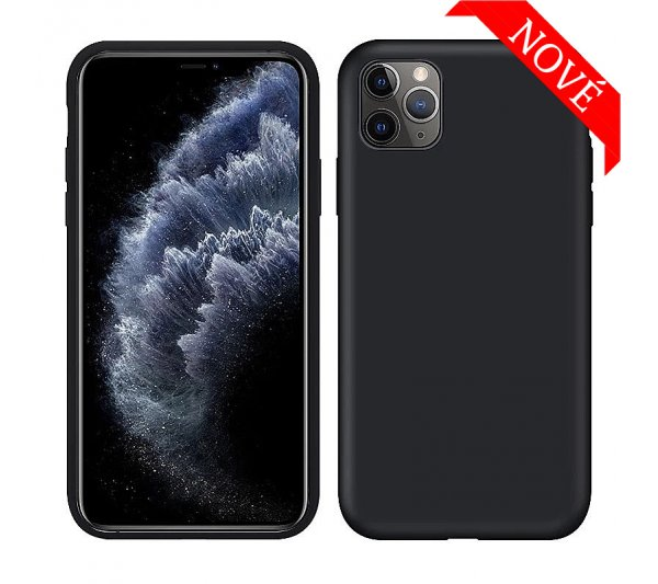 Silikónový kryt iPhone 11 Pro - čierny