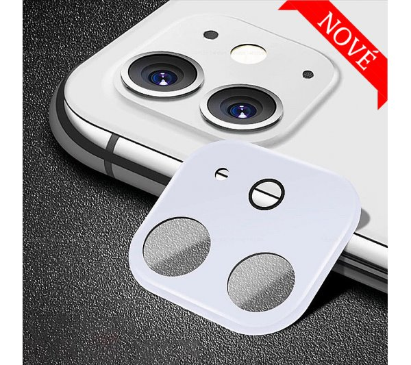 Ochranný kryt so sklom pre fotoaparát iPhone 11 - biely