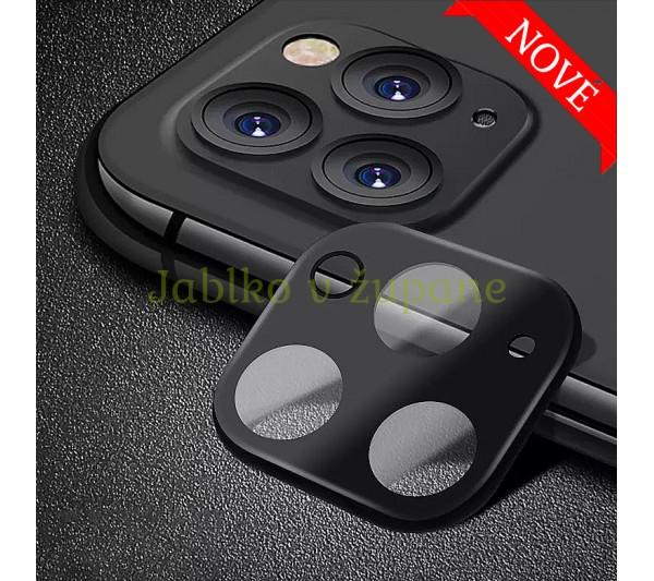 Ochranný kryt so sklom pre fotoaparát iPhone 11 Pro, 11 Pro Max - čierny