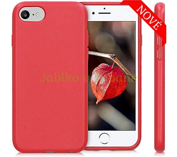 Eco Bio kryt iPhone 6/6S, 7/8, SE 2 - červený