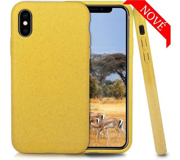 Eco Bio kryt iPhone X, XS - žltý