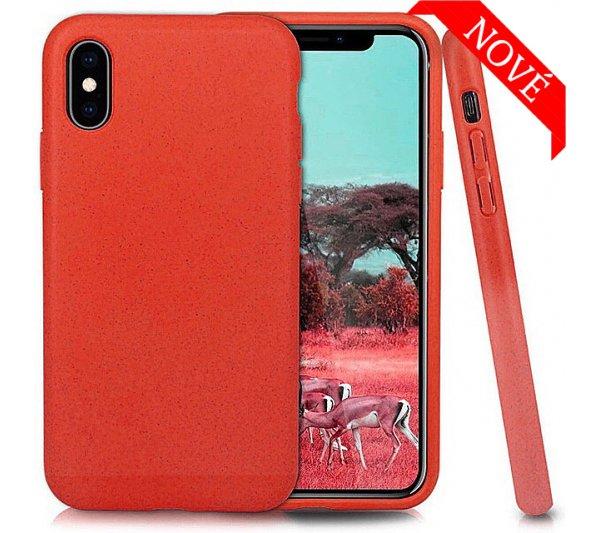 Eco Bio kryt iPhone X, XS - červený
