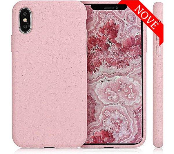 Eco Bio kryt iPhone X, XS - ružový