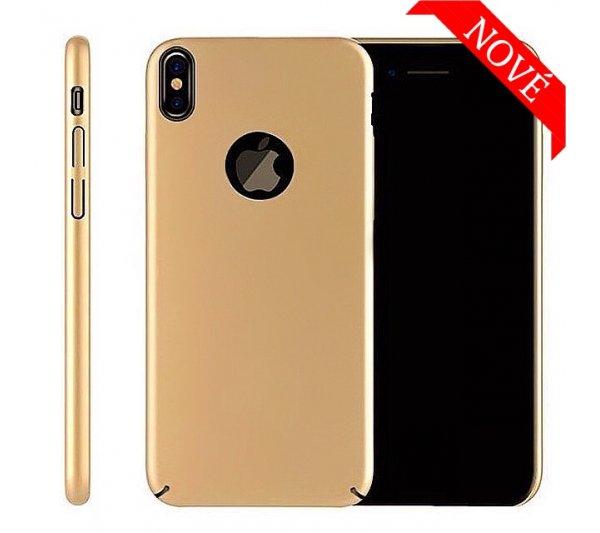 Kryt Thin iPhone X, XS - zlatý