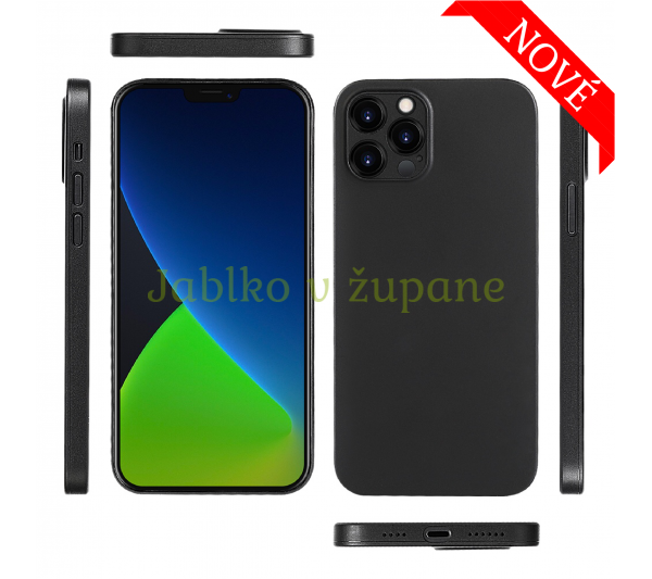 Ultratenký kryt Full iPhone 12 Pro Max - čierny