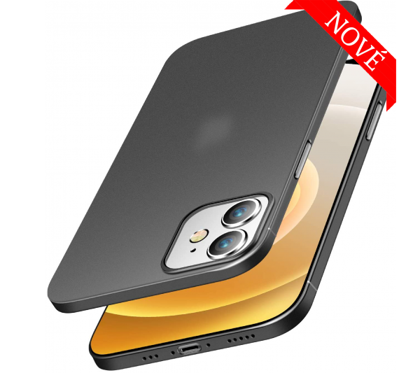 Ultratenký kryt iPhone 12 Mini - čierny