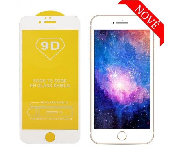 9D tvrdené sklo Prémium iPhone 6/6S Plus, 7/8 Plus - biele