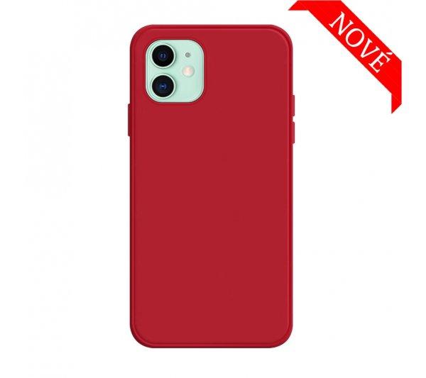 Silikónový kryt iPhone 12 Mini - červený