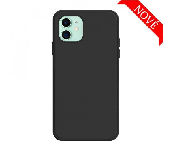 Silikónový kryt iPhone 12 Mini - čierny