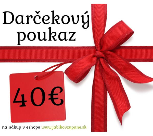 Darčekový poukaz 40€ s dopravou zadarmo