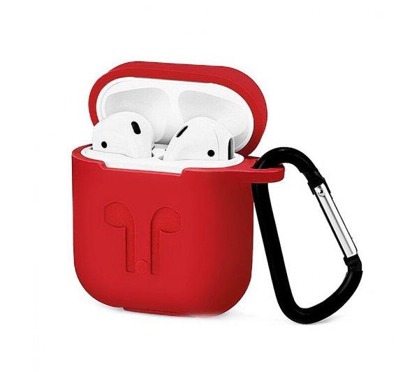 Silikónový obal pre Apple AirPods 1 červený